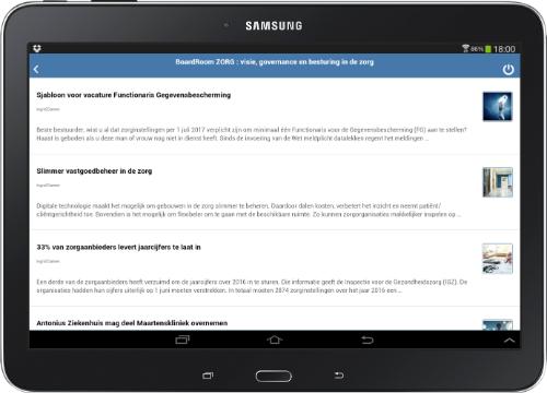 Attendering via Mox-info app
